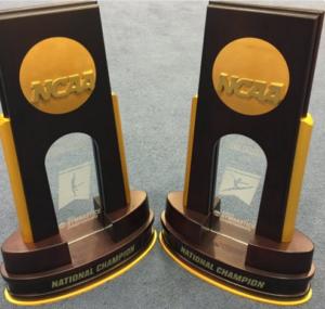 NCAA  Gymnastics trophies