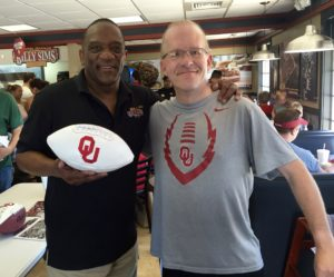 Billy Sims and Bill Wilson from the Wichita Business Journal.